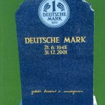 Grabstein Deutsche Mark