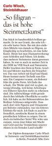 Tagesspiegel im Artikel von Carlo Wloch über die Adlerschlange im Humboldt-Forum